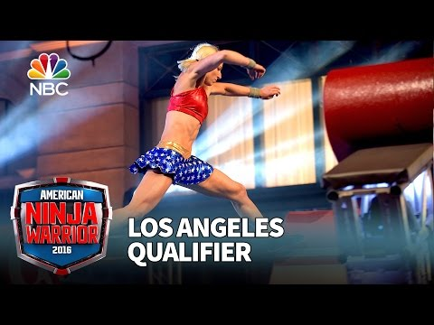 Jessie Graff at the Los Angeles Qualifier - American Ninja Warrior 2016
