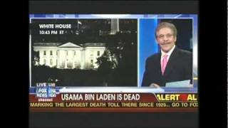 First Announcement Death of Osama Bin Laden 10:40pm Fox News Geraldo Rivera Live Breaking News Dead