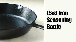 Seasoning Cast Iron (Flaxseed vs. Old School methods)