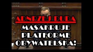 █■█ █ ▀█▀ Andrzej Duda MASAKRUJE Platformę Obywatelską!