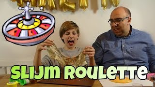 SLIJM ROULETTE CHALLENGE WITH MY DAD; SLIME ROULETTE; RARE SLIJM MAKEN; MIXING SLIME; DIRTY SLIME