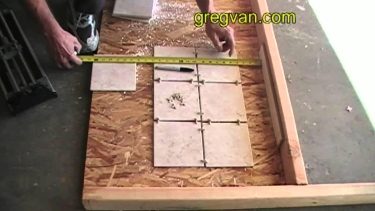 How to measure floor tiles