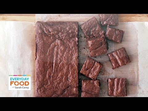 Triple-Chocolate Brownies (HEALTHY DINNER COLLAB!) - Everyday Food with Sarah Carey