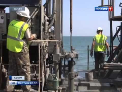 В Крыму началось строительство моста