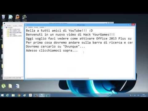 Come attivare Office 2013 Plus su Windows 8.1 Gratis!UNICO METODO FUNZIONANTE! SENZA PROGRAMMI!! HD