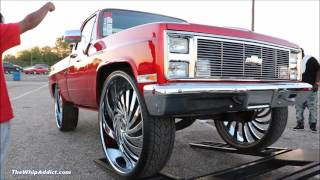 WhipAddict: Supercharged Chevrolet Silverado Short Bed on DUB Delish 34s, BK Rims