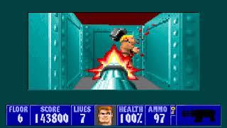 [MS-DOS] Wolfenstein 3D - Floor 6 (Episode III)
