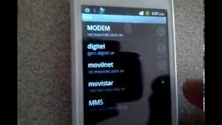 Configuracion de APN Movilnet Movistar Digitel Venezuela configurar red movil datos 3g g h+
