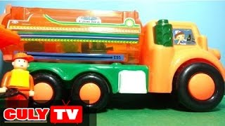children's toy tank car assembly gas stations, truck