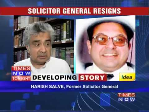 Solicitor General Rohinton Nariman resigns!