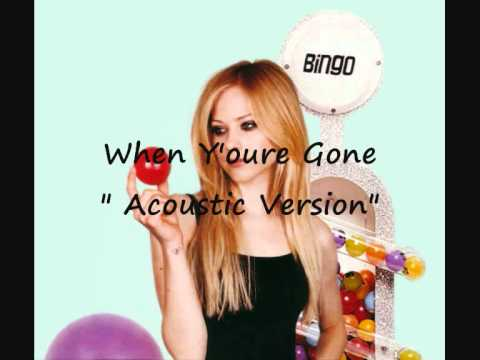 Avril Lavigne - When You're Gone (acoustic Version) video