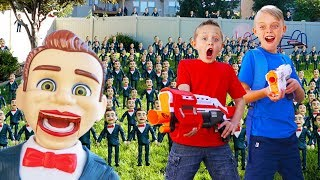 Toy Story 4 Benson Clones Himself (Sneaky)! Fun Squad VS 100 Benson Toys!