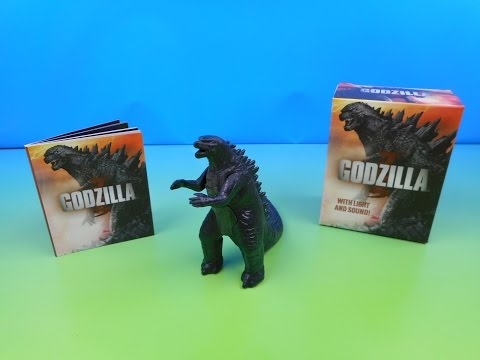GODZILLA MINI FIGURE MOVIE TOY w/ LIGHT AND SOUND by RUNNING PRESS VIDEO REVIEW