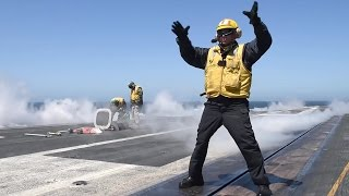 VIOLENT Super Hornets Carrier Catapult Takeoffs – Flight Deck Ops USS Theodore Roosevelt