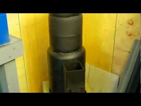 WORKSHOP ROCKET STOVE HEATER part1