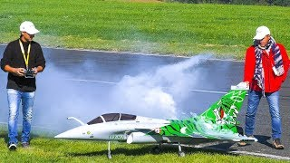 RC SCALE MODEL JET DASSAULT RAFALE IN DEMO FLIGHT!! *RC MODEL AIRPLANE TURBINE