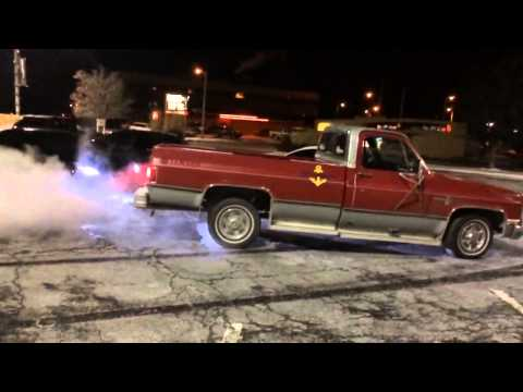 Burnouts for Paul Walker Featuring Lewis and his old anchor truck