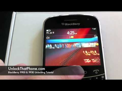 How to Unlock Blackberry Bold 9900 (9930) with Code + Full Instructions!! tmobile at&t rogers bell