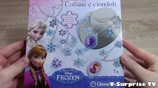 Frozen Kit Anna & Elsa glittery Necklaces, pendants | How to make Disney jewelry Review フローズン