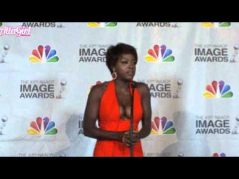 Viola Davis Receives NAACP Image Award Backstage