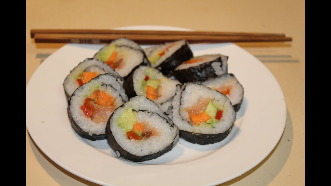 Home made sushi rolls party finger food youtube
