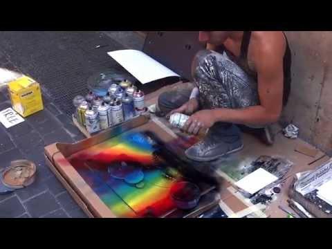 Удивительный художник на улицах Рима создает шедевры за 8 минут! Вау!