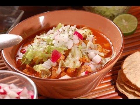 Pozole rojo - Red Pozole - Recetas de comida mexicana