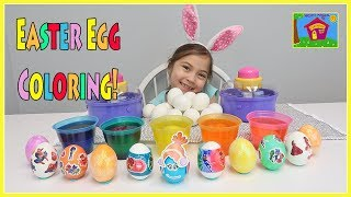 Coloring Easter Eggs with Children | Easter 2018 Egg Decorating Ideas for Kids