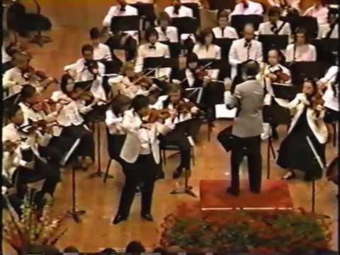Chin Kim Glazunov Violin Concerto1 90-8-18 Grand Teton Music Festival Orchestra Ling Tung conducting