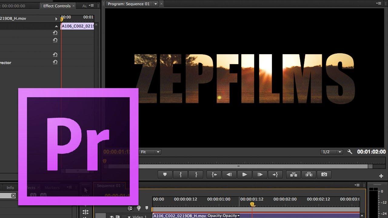 Adobe Premiere Pro - #19: Text Masking - YouTube