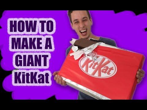 GIANT Kit Kat Recipe How To Cook That Ann Reardon make kitkat...