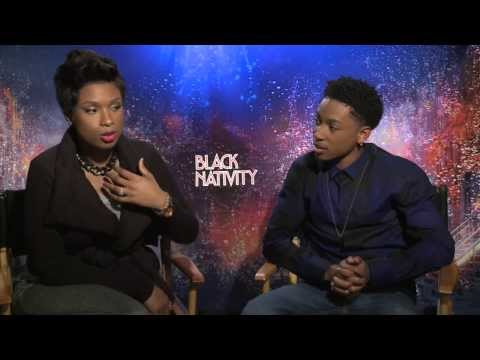 Jennifer Hudson and Jacob Latimore Interview -- Black Nativity