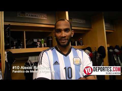 Alexei Ramirez es fanático de Messi y la selección Argentina