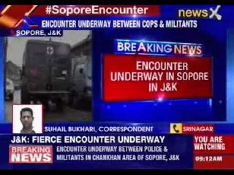 Encounter underway in Sopore in Jammu and Kashmir