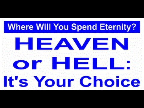 Sermon: God Gave Me This For You 2 Watch & By YOUR Own Choice Decide YOUR Eternal Home!