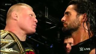 Seth Rollins and Brock Lesnar Backstage Segment (Raw 1.19.15)