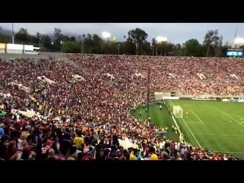 Stadium View Slow Motion:                               L.A Galaxy v.s. FC Barcelona Rose Bowl