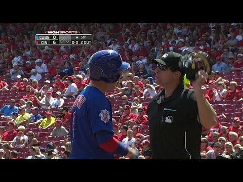 CHC@CIN: Coghlan ejected after striking out