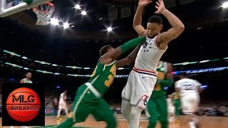 Marcus Smart wanna fight Ben Simmons shoving him & gets a technical foul ! Celtics vs Sixers