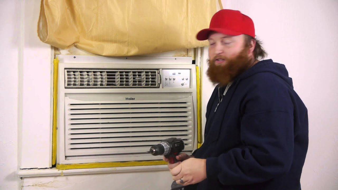 how to put an ac in a jalousie window