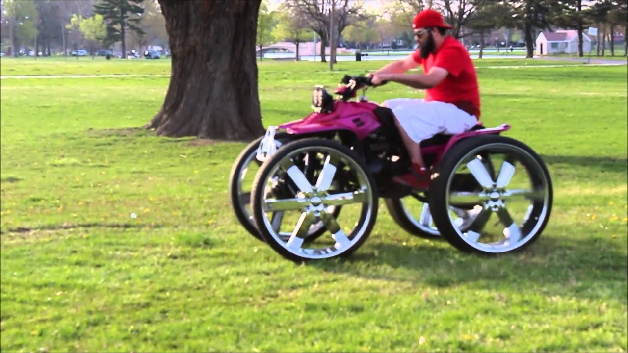 Four Wheelers With Rims : Wheeler on s doing donuts youtube