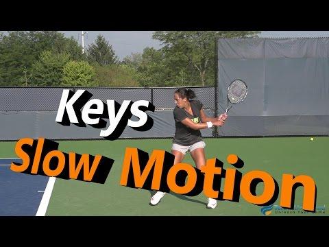 Madison Keys Slow Motion Forehand & Backhand 240FPS Cincinnati 2014