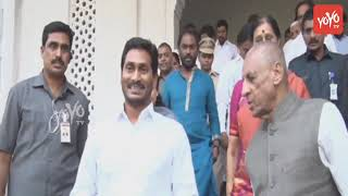 YS Jagan Meet With Governor at Rajbhavan Hyderabad | YS Bharathi | AP CM Jagan