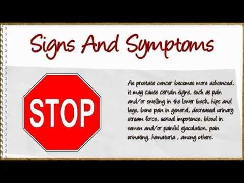 Symptoms Of Prostate Cancer-Watch The Video To Find Out What They Are