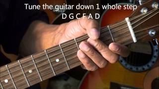 A Way To  Make Your 12 String Guitar Easier To Play Lesson EricBlackmonMusicHD