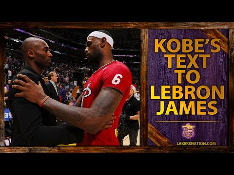 Kobe Bryant Trash-Talking With LeBron James, Old Text Message Revealed