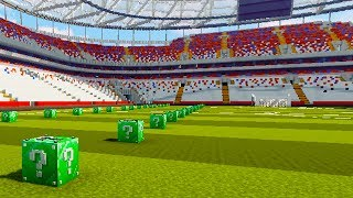 EMERALD LUCKY BLOCK VOETBAL RACE - Minecraft Mod Challenge