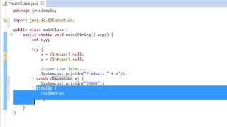 Java Programming - 43 - Exception Handling