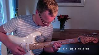 Message In A Bottle by The Police (Andy Summers) - Guitar Tutorial