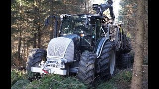 New Valtra A124 forestry tractor with Palms trailer and crane 7.86